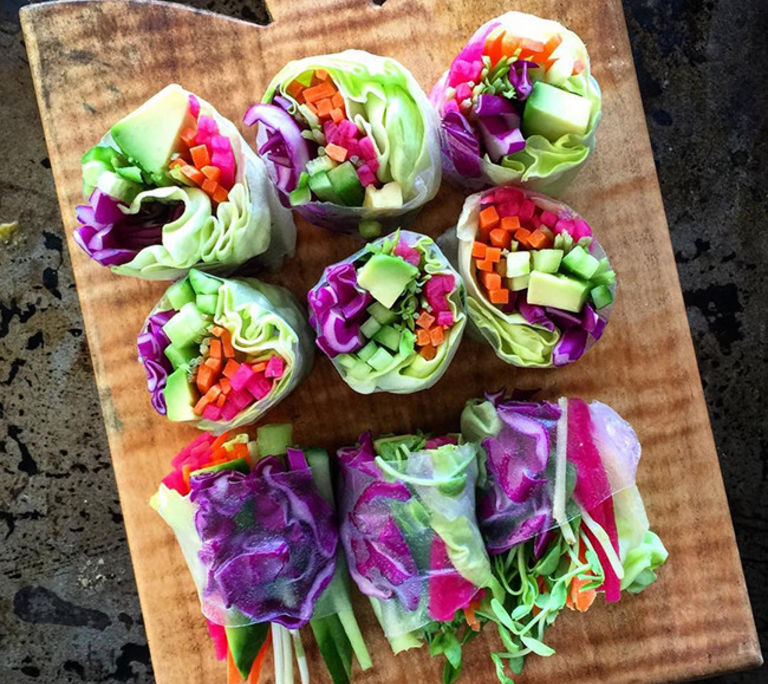 Rainbow Rice Paper Roll Recipe
